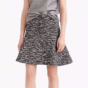 J Crew Fluted Skirt in Tweed - Size 4